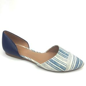 Tommy Hilfiger Naree d'Orsay Blue Flats Size 8